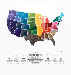 United states Map Infographic Template geometric vector image
