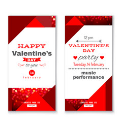 Valentines day vertical banners vector