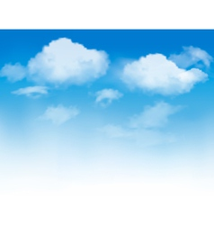 White clouds in a blue sky vector