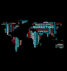 Word cloud bussiness concept world map from text vector