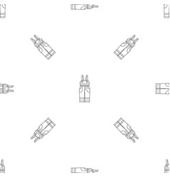 worker suit pattern seamless vector image