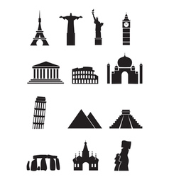 world sights vector image