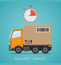 concept of the shipping service vector image