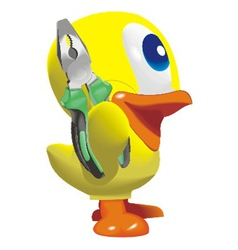duck with nippers vector image vector image