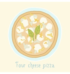 Four cheese pizza vector image vector image