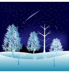 Winter in wood vector image vector image