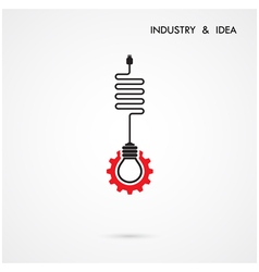 Creative light bulb and gear abstract desig vector image vector image