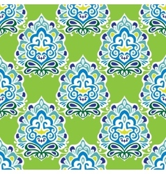 Damask green abstract seamless pattern vector image vector image