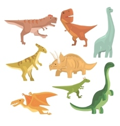 Dinosaurs Of Jurassic Period Collection Of vector image vector image