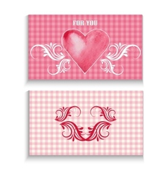flyer card with heart vector image