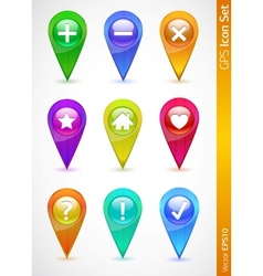 gps and navigation icons vector image