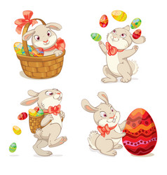 happy easter isolated on white background vector image vector image