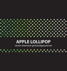shamrock pattern set apple lollipop seamless vector image