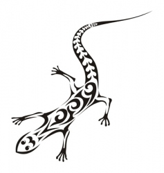 tribal lizard tattoo vector image