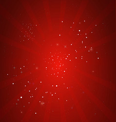 Christmas background of red rays vector image