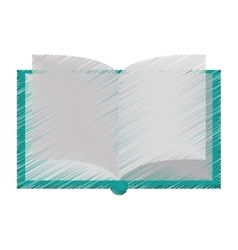 Isolated book object design vector image vector image