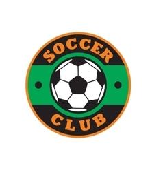 Nice soccer club logo vector