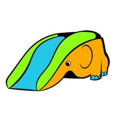 playground slide icon icon cartoon vector image vector image