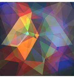 Poligon light effect background Triangular vector image vector image