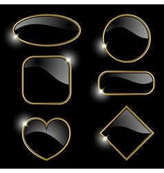 Set from gold frames vector image vector image