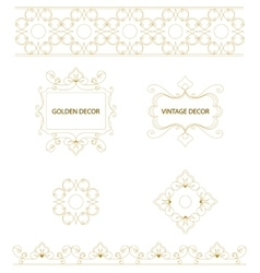 set of art frames and borders vector image
