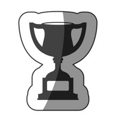 sticker monochrome trophy cup with half shaded vector image vector image