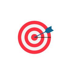 target keyword flat icon vector image vector image