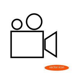 a simple stylized linear image of a film vector image vector image