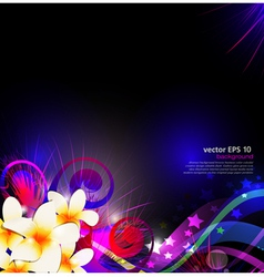 abstract background celebration with flowers vector image vector image