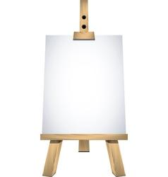 art easel vector image vector image