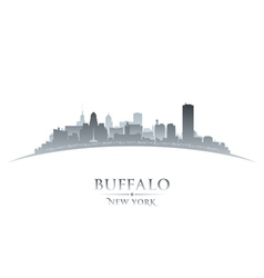 Buffalo New York city skyline silhouette vector image