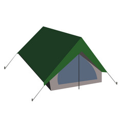 isolated camping tent in flat vector image vector image