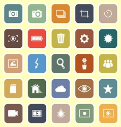 Photography flat icons on light background vector image