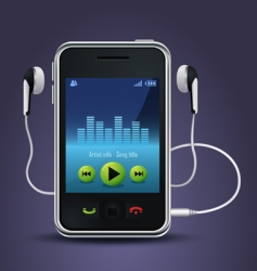 smart phone music player vector image