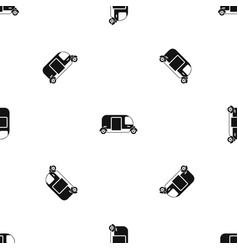 thailand three wheel native taxi pattern seamless vector image