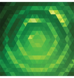 24 Green Triangles vector image