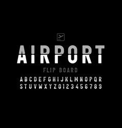Airport flip board panel style font design vector