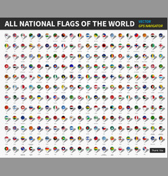 all official national flags of the world gps vector image