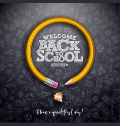 Back to school design with graphite pencil and vector