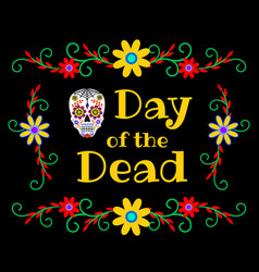 banner for day dead vector image