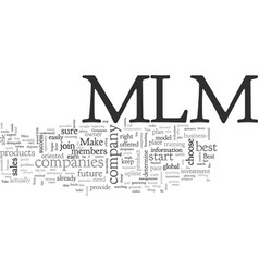 Best mlm companies tips for your success vector