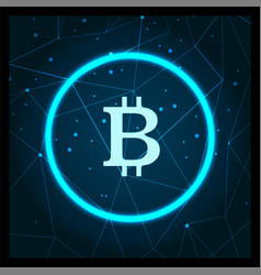 bitcoin cryptocurrency digital art icon vector image