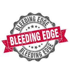 Bleeding edge stamp sign seal vector