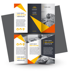 Brochure design template creative tri-fold vector