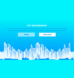city background web page vector image