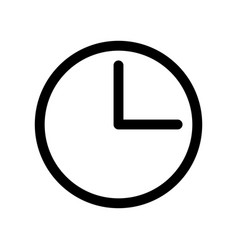 clock icon time or alarm theme outline modern vector image