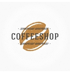 Coffee Shop Hand Drawn Logo Template vector image