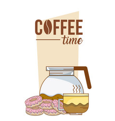 Coffee time card vector
