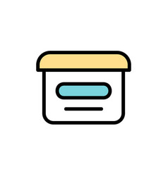 cosmetic cream icon vector image