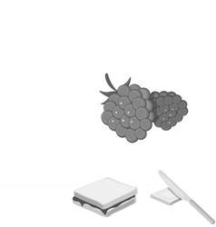 Dessert fragrant monochrome icons in set vector